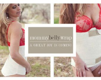 Post Maternity  Belly Wrap -- Natural Cotton all in one girdle, Tummy Reducer  TWO STYLES COMBO