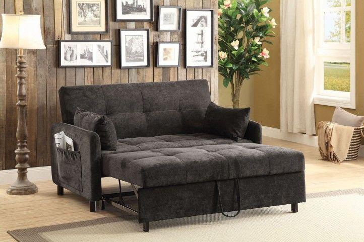 Underwood Charcoal Full Sofa Bed In 2020 Tufted Sofa Brown Sofa