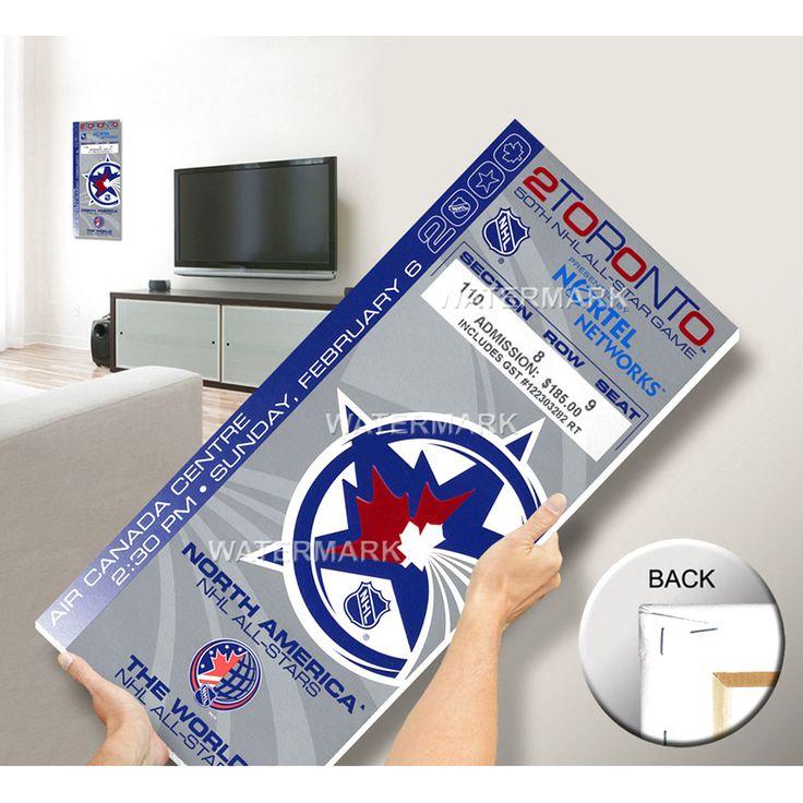 2000 NHL All-Star Game Mega Ticket, Toronto Maple Leafs Host - MVP Bure - $63.99