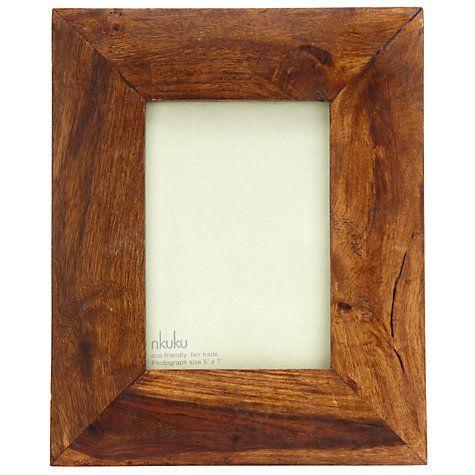 "Buy Nkuku Sheesham Wood Photo Frame, 5 x 7"" (13 x 18cm) Online at johnlewis.com"