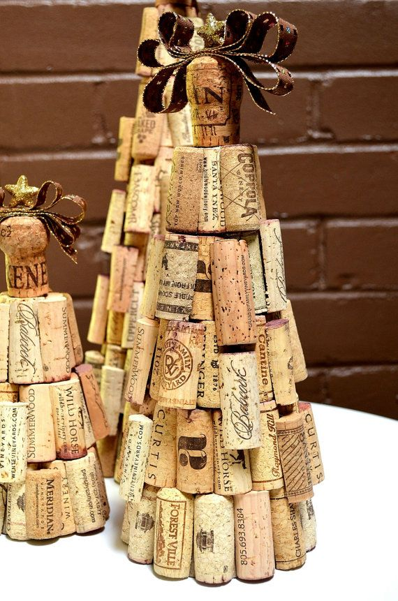 Albero di Natale di sughero rustico di TheCorkForest su Etsy