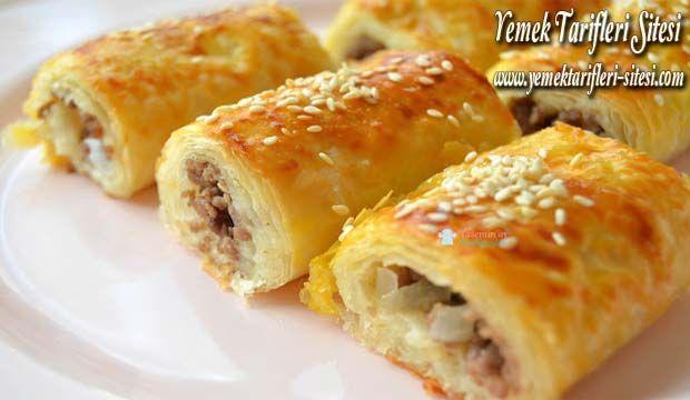 Hazır Baklava Yufkasından Sodalı Kıymalı Börek Tarifi | Yemek Tarifleri Sitesi - Oktay Usta - Harika ve Nefis Yemek Tarifleri