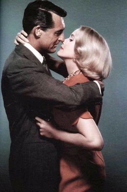 Cary Grant & Eva Marie Saint in, 'North By Northwest', 1959. TCM airs this Classic Hitchcock, Mystery-Thriller, Sunday, February 7th - 9:45 am.