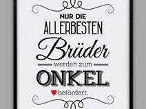 """BESTER BRUDER"" Kunstdruck, Vatertag Geschenk"