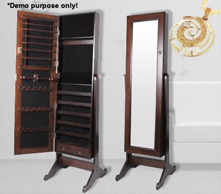 Beautiful Cheval Mirror Jewellery Cabinet