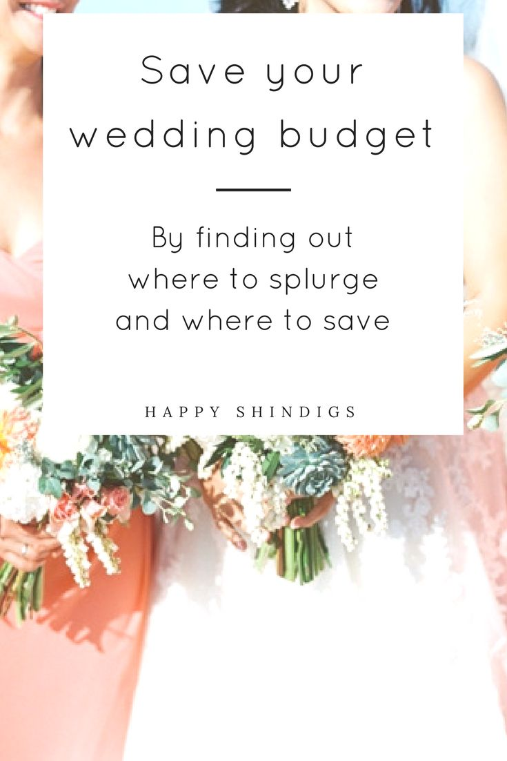 Overwhelmed with trying to navigate your wedding budget and confused on how much you should really be spending? Click through to find out what areas I suggest splurging on and where you can save!