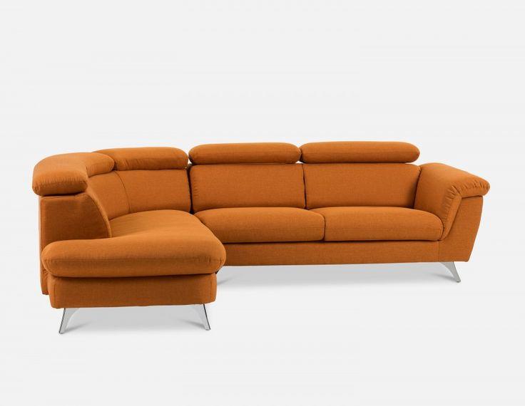 KENLEY - Sectional Sofa Left - Rust