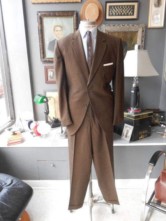 BOND CLOTHES 44R 38x31 vintage men's suit by RichardsFabulousFind, $285.00