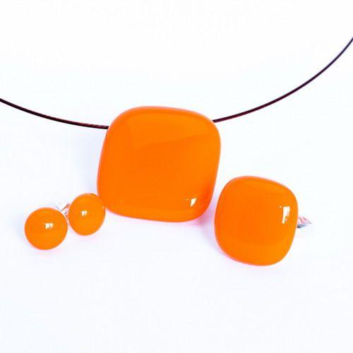 Narancs ékszer szett