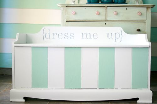 refinished dress up chest: Entir Closet, Child Gifts, Chest Ideas