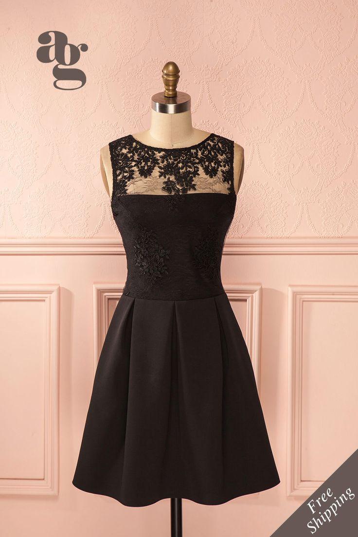 Patron robe soiree noire