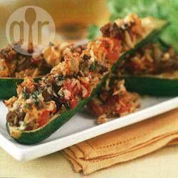 Zucchine ripiene di riso e carne @ allrecipes.it