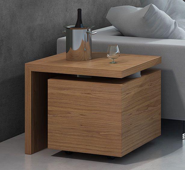 Mueble bar moderno giro material madera de roble existe for Mueble barra bar