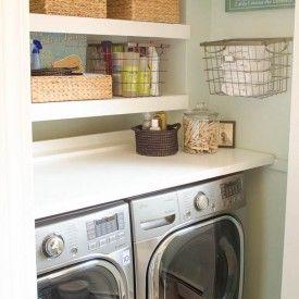 budget laundry room reveal {laundry closet}