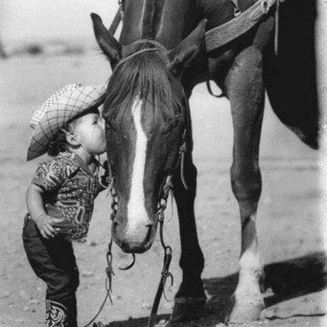 True love: Picture, Sweet, Horses, So Cute, Cowboys, Cowgirl, Photo, Kid, Animal