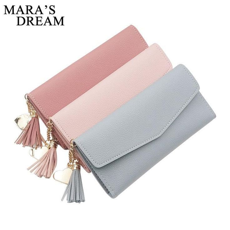 Mara's Dream 2018 New Women Wallet Tassel Heart Long Wallet Large Capacity Zipper Hasp Ladies Bag Purse Money Female Credit Card