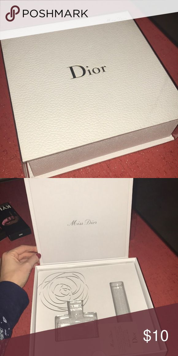 Empty DIOR perfume box Empty box that had regular and travel perfume. Box is in excellent condition Dior Other
