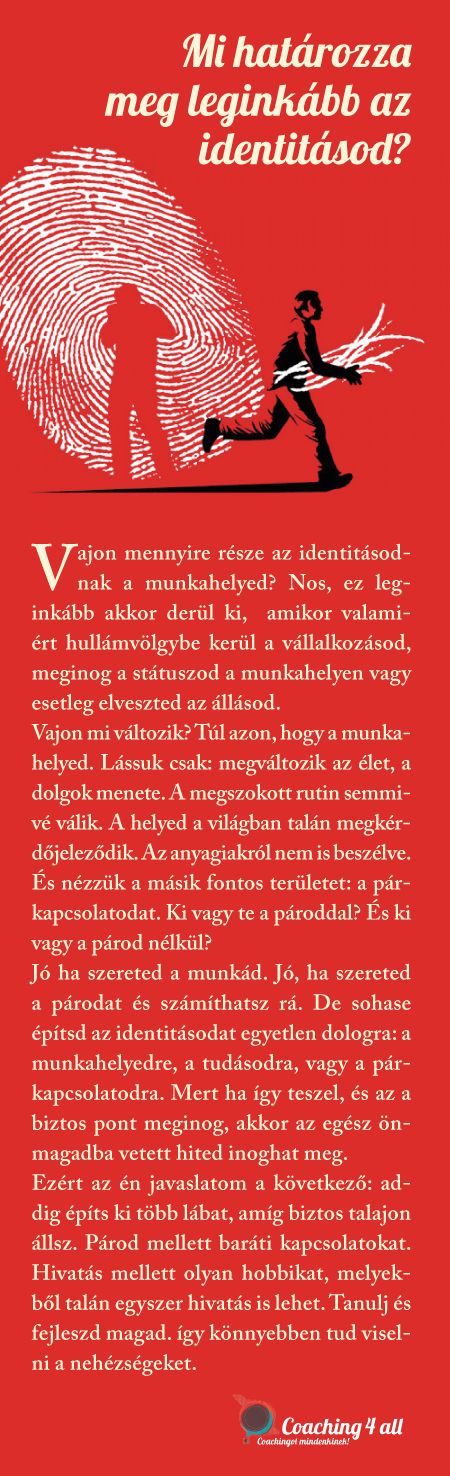 identitás, munkahely, párkapcsolat