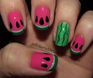 Funky nail art, this blog has a ton of nail art ideas :) too cute