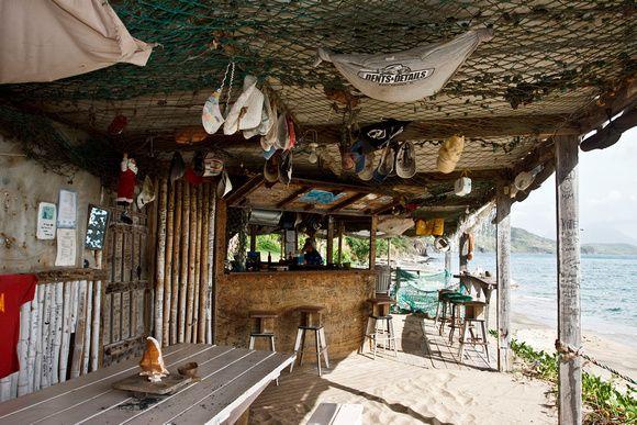 Shipwreck beach bar. St. Kitts. #Caribbean
