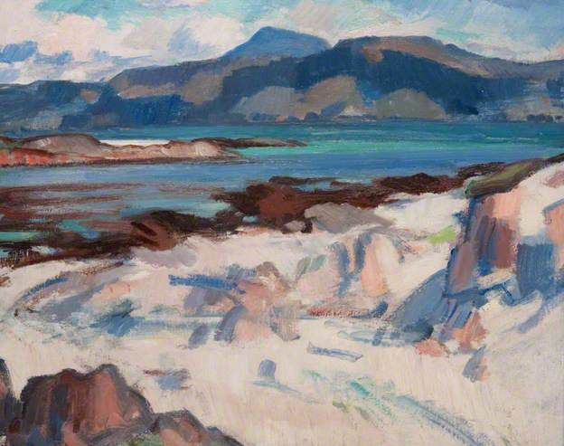 Ben More from Martyrs Bay, Iona, c. 1925 by Samuel John Peploe (1871–1935)