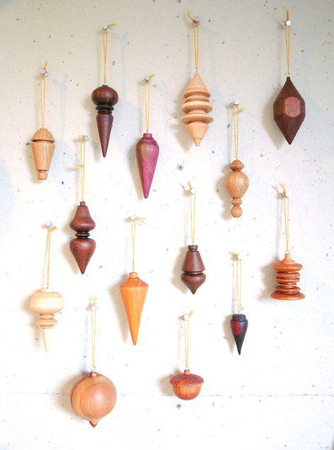 wood ornaments - $25