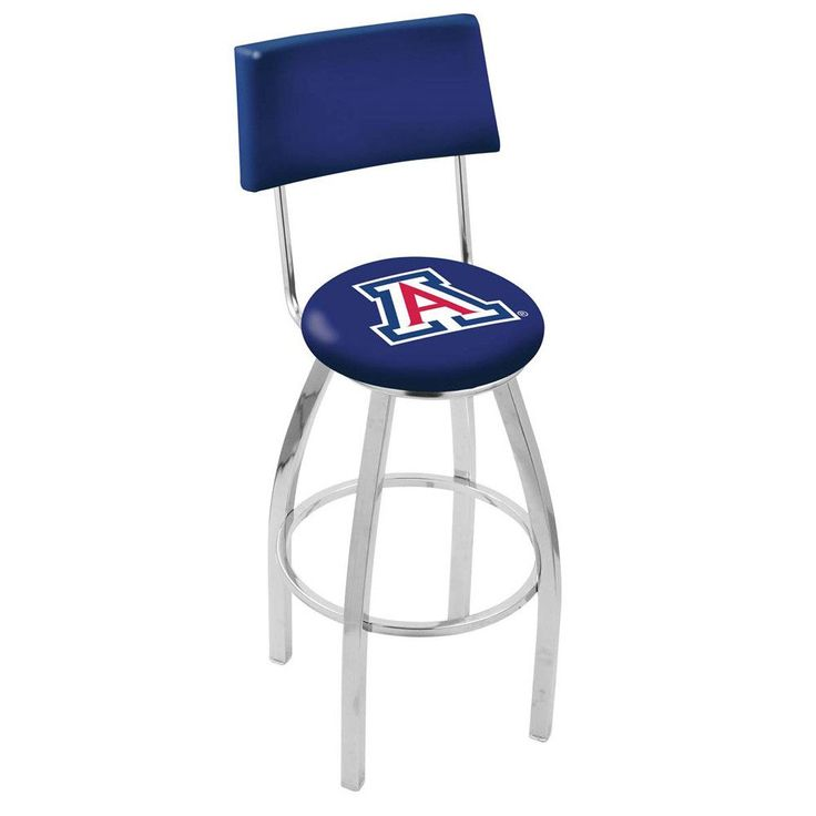 Arizona Wildcats Chrome Swivel Barstool w/ Back