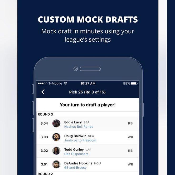 Looking to mock draft!? We love using the Fantasy Pro's Mock Draft Tool! - Try it for free via the link in our bio! #nfl #fantasyfootballnews #fantasyfootballblog #fantasyfootballteam #fantasyfootballmock #fantasydraft #fantasy #fantasydraft #fantasylife #fantasy2017 #fantasyfootball #fantasyfootballadvice #fantasyfootballadvice4u #fantasyfootballchamp #fantasyfootballproblems #nfl #nflgear #nflmeme #nflnews #nflnews #nflmemes #nfltop100 #nfldraft #football #footballer #footballnews…