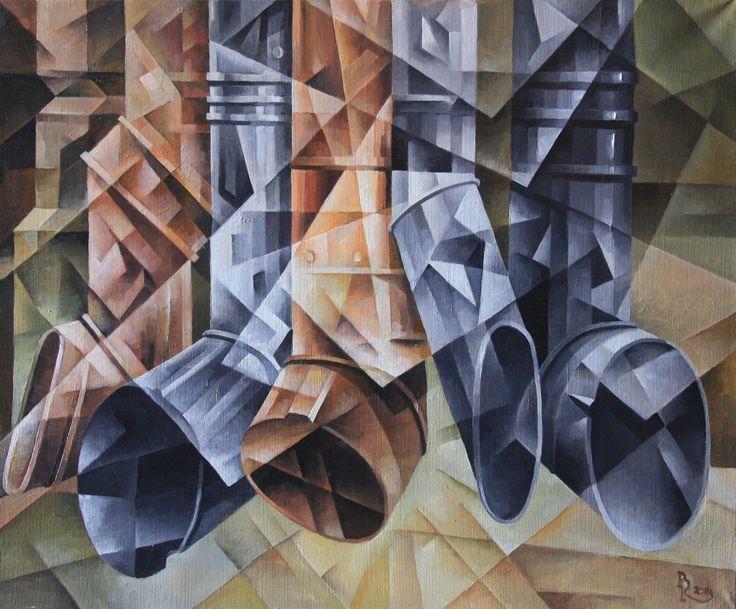 Drainpipes Flute. Cubo-futurism. Krotkov Vassily. 2014