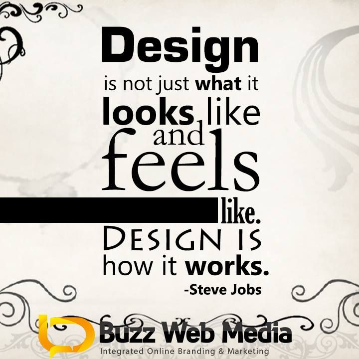 We think like #SteveJobs when we #design. With #marketing & the user in mind so it all works & not just 'look good'.   #webdesign #webdesigntips #SEO #designtips #designquotes #art #bizquotes #marketingquotes