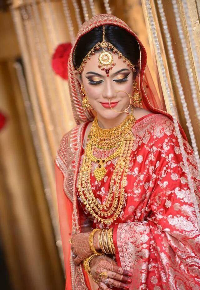 <3 <3 Protiti's Wedding! <3 <3 Make Artist- Sadia Moyeen... La Bella Salon (Bangladesh)
