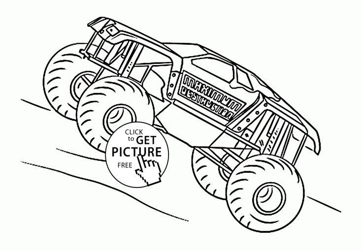 Mejores 86 im genes de monster truck coloring pages en for Maximum destruction coloring pages