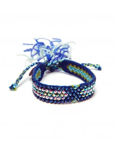 Blue & Teal Wayuu Friendship Bracelet