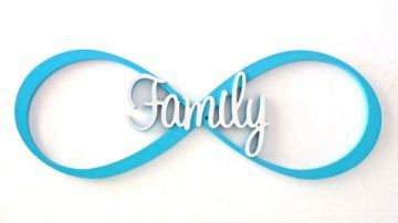 Name Plaque Wall Art for Kids - Infinity Sign 2