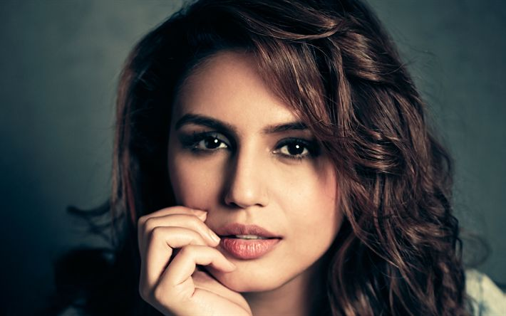 Download wallpapers Huma Qureshi, 4k, Bollywood, portrait, Indian actress, brunette, beautiful woman