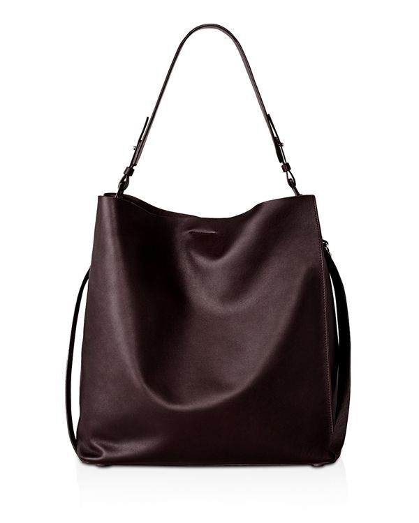 Gorgeously crafted of supple, ethically-sourced calf leather, this Allsaints tote has a graceful drape that feels effortlessly cool and modern. | leather | Wipe clean | Imported | Adjustable shoulder