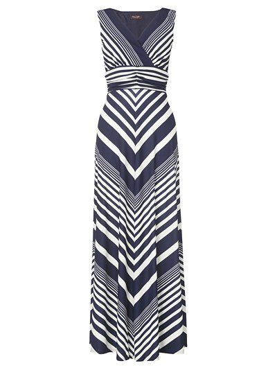 chevron maxi dress - love the color and cut, plus if the fabric has a little give, it could work for nursing.