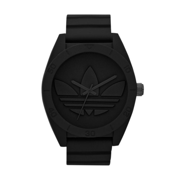 In black-on-black, Santiago XL reigns supreme as the must-have masculine watch of the season. Articulated lines and sleek curves complete this already stylish look. Santiago XL fuses the classic nature of Santiago with oversized street inspiration, making it the perfect addition to the Originals range.  R1399.00  http://www.watchrepublic.co.za/brand/adidas/men/adidas-santiago-xl-watch-0