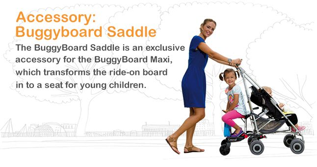 BuggyBoard Ride-on with Saddle for a Comfy and Safe Ride for Toddler