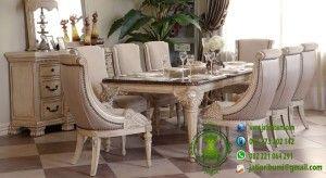 Meja Makan Exclusive Stylish Model Terbaru www.jatipribumi.com desain mewah dengan ukiran karya tangan yang dikerjakan dengan detail sehingga menghasilkan karya seni ukiran yang menawan.