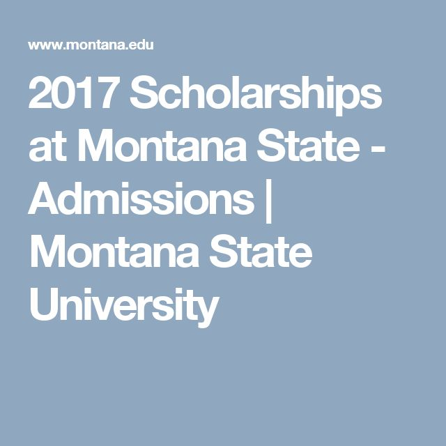 2017 Scholarships at Montana State     - Admissions   Montana State University
