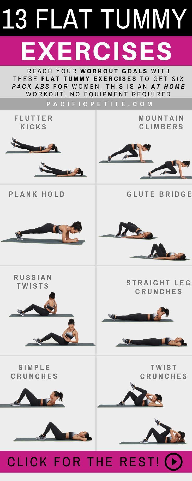13 Amazing Flat Tummy Exercises – 30 Days Workout Challenge