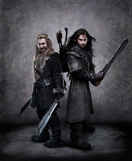 """Fili and Kili - """"Two of the youngest Dwarves, Fili and Kili have been born into the royal line of Durin and raised under the stern guardianship of their uncle,Thorin Oakensheild. Neither has ever traveled far, nor ever seen the fabled Dwarf City of Erebor. For both, the journey to the Lonely Mountain represents adventure and excitement. Skilled fighters, both brothers set off on their adventure armed with the invincible courage of youth, neither being able to imagine the fate which lies before them.""""  Read more: http://newsfeed.time.com/2011/07/15/time-exclusive-first-look-at-balin-and-dwalin-from-the-hobbit-movie/hbt-dwf-003/#ixzz1SZuvKZU1 Aidan Turner, The Hobbit, Middleearth, Rings, Middle Earth, Lotr Hobbit, Lord, Fili And Kili, Thehobbit"""