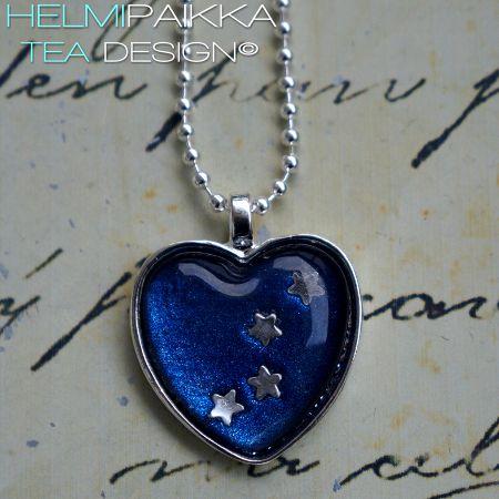 Sininen tähtivyö sydän 20€