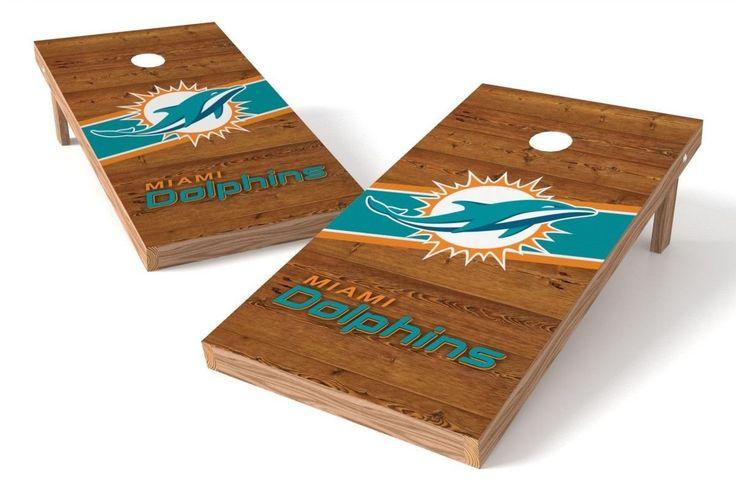Miami Dolphins Cornhole Board Set - Logo