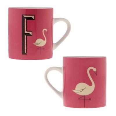 Retro alphabet mugs