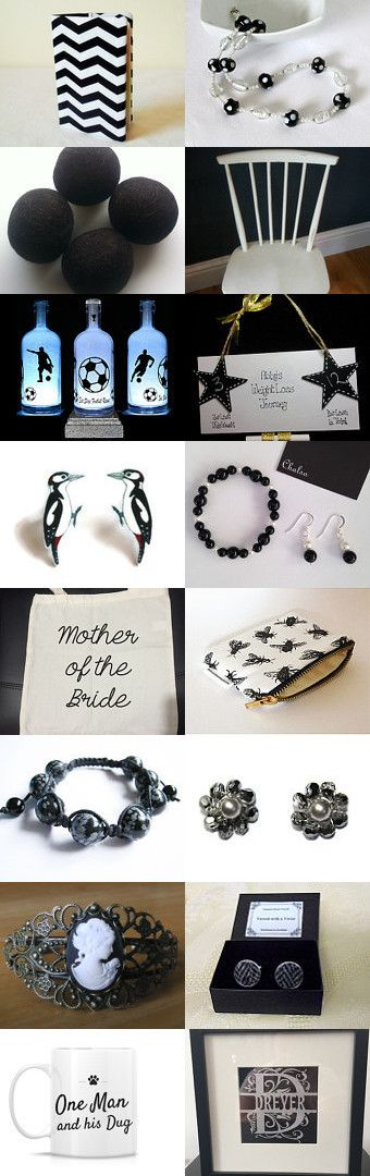 Monochrome Magic by Carol on Etsy--Pinned+with+TreasuryPin.com