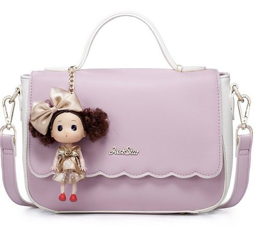Girls messenger bags doll pendant beautiful generous bags BS-170720-04