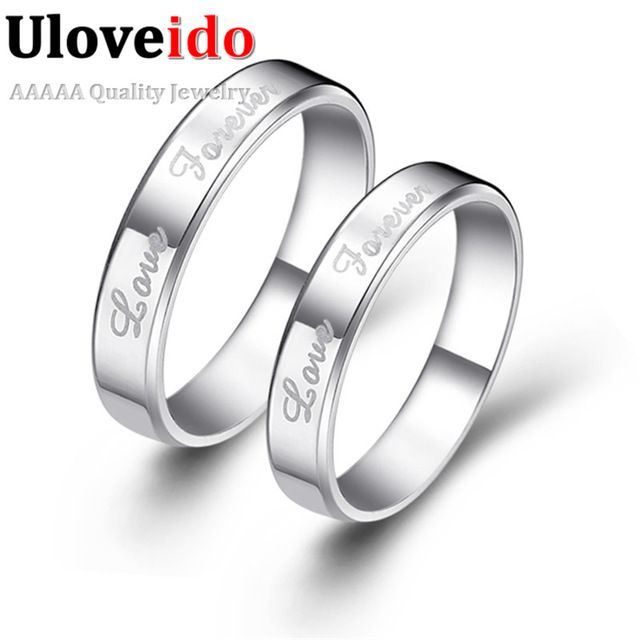 Good price Uloveido Fashion Korean Style Forever Love Couple Rings for Men Women Wedding Bands Anillo Men Ring Valentine's Day Gift J014 just only $5.71 with free shipping worldwide  #weddingengagementjewelry Plese click on picture to see our special price for you
