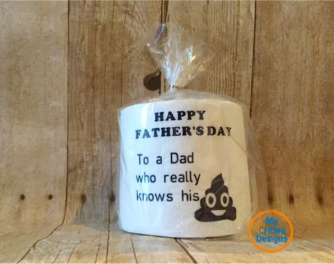 Father's Day gifts that won't disappoint. Our custom designed toilet paper gifts will be the talk of the town. Surprise dad with a one of kind gift for Father's Day! Custom Sayings available- just lea